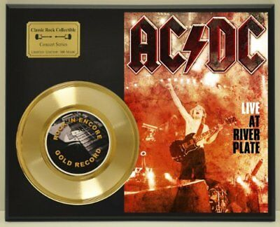 ACDC Limited Edition Vintage Concert Poster Gold Record Display