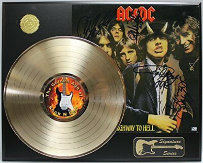 ACDC Gold LP Record Signature Series Limited Edition Display