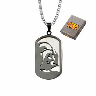 Star Wars Darth Vader Layer Stainless Steel Dog Tag Chain Pendant Necklace