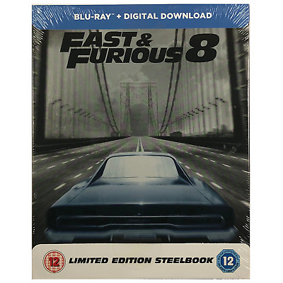 Fast And Furious 8 Steelbook - UK Exclusive Limited Edition Blu-Ray