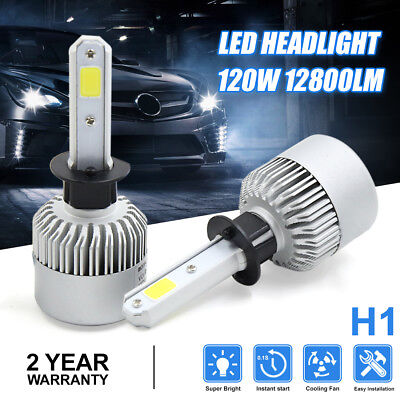 Pair 120W 12800LM COB H1 LED Headlight Kit HID Bulb 6500K for 00 Subaru Outback