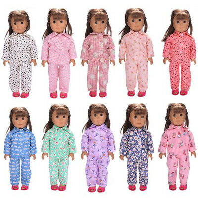Pajamas PJS Nightgown Clothes for 18 inch Our Generation American Doll Girl Cute
