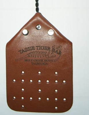 NEW DESIGN FLY SWATTER - REAL LEATHER Real Leather with Twisted Galvanised Wire