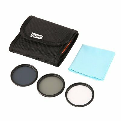 Onleny 52/58/62/67mm UV CPL ND4 Filter Storage Bag + Cleaning Cloth 5pcs Kit ZP