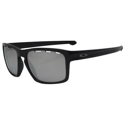 Oakley OO 9262-4257 SLIVER VENTED Polished Black Chrome Iridium Lens Sunglasses