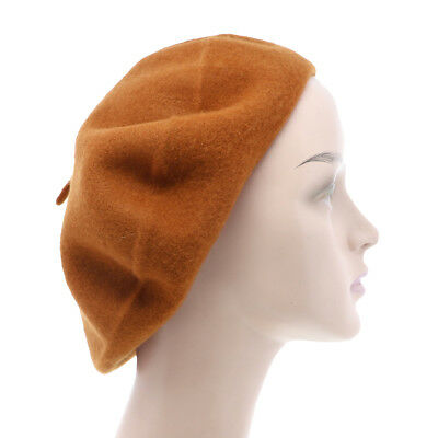 289daa2e8f572 Cute Brown Beret Tam Hat French Slouchy Beanie Artists Wool Classic Beret