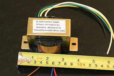 OUTPUT TRANSFORMER 22W 6600 CT Tube Valve DIY EL84 audio fender OT PP 6k6 ohms