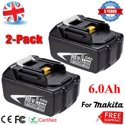 2 X 6.0Ah 18V LXT Battery For Makita BL1860 BL1850 BL1830 194230-4 Cordless New