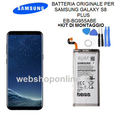 BATTERIA ORIGINALE SAMSUNG GALAXY S8+ plus DATA 2018 EB-BG955ABE+ KIT MONT.bulk