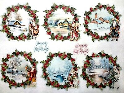 Rice Paper for Decoupage Scrapbooking Sheet Craft Christmas Baubles Motives 5