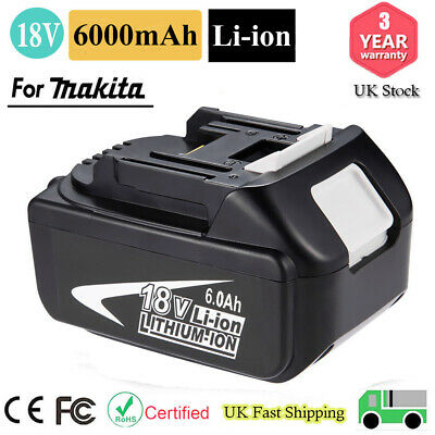 New 18V 5.0Ah Lithium Ion Battery For Makita BL1815 BL1840 BL1850 BL1860 LXT UK