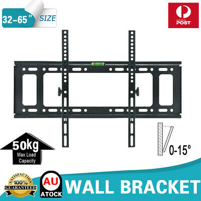 Slim Tilt Tv Wall Mount Bracket Led Lcd Plasma 23 26 32 40 46 50 52 55 60 65 70""