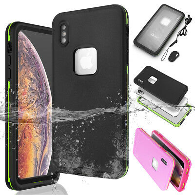 iPhone XS Max XR X Waterproof Life Time Shockproof DirtProof Swimming Case Cover