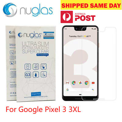 GENUINE NUGLAS Google Pixel 3 3XL Premium Tempered Glass Screen Protector AU POS