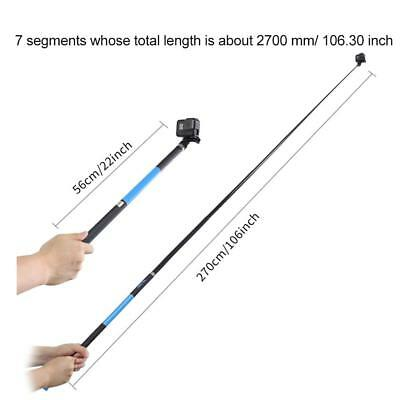 TELESIN Super Long Adjustable Selfie Stick for GoPro/YI /SJCAM Action Camera