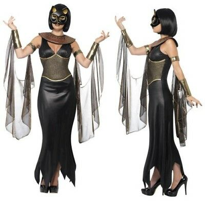 Smiffy's Mujer Bastet Gris con Like With The Cat Diosa Egipcio Disfraz Halloween