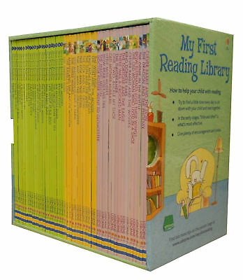 Usborne My First Reading Library 50 Book Collection Phonics, Early Reading,