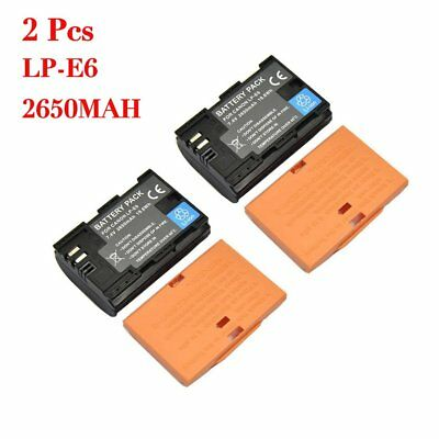Camera Battery LP-E6 for Canon EOS 5D Mark II III EOS 70D 7D 60D 6D 2650mAh MH