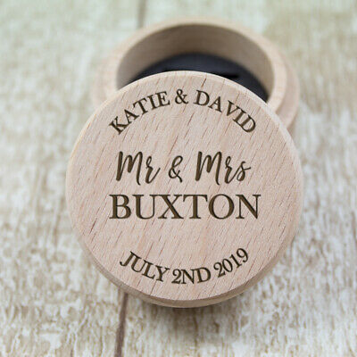 Personalised Wedding Ring Box, Custom Ring Bearer Box, Proposal Box, Gifts RB2
