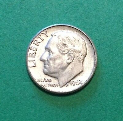 1964 D Roosevelt Dime 90% Silver Ex Circulated Condition