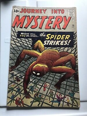 journey into mystery 73 The Spider Strikes Comic Book