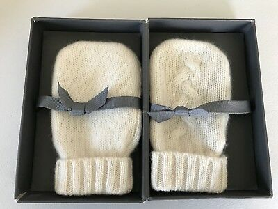 Restoration Hardware Ivory Mini Cashmere Hand Warmers Baby Toddler