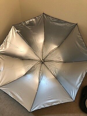 """Westcott Umbrella - Soft Silver, Collapsible Compact - 43"""""""