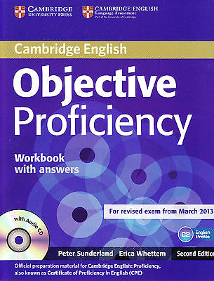 Cambridge OBJECTIVE PROFICIENCY C2 CPE Workbook w Key &CD for Exam from 2013 NEW