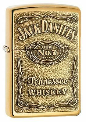 Sale Zippo High Polished Brass Lighter With Jack Daniels Emblem, 254BJD.428, NIB