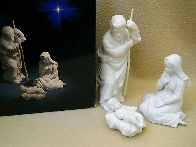 Vintage 1981 Avon Nativity Collectibles Holy Family /3 Christmas Figurines