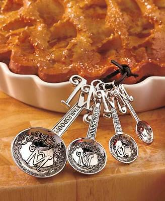 The Lakeside Collection Set of 4 Monogram Measuring Spoons