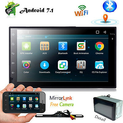 """7"""" Android 7.1 Double Din Car Stereo Radio GPS Navigation Wifi 3G Mirror HD Link"""