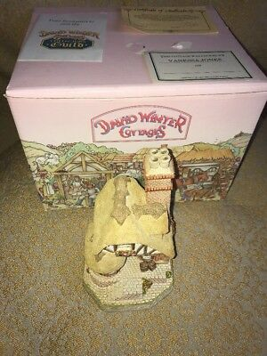 "1991 David Winter Cottages ""AUDREY'S TEA ROOM"" with Original Box & COA"
