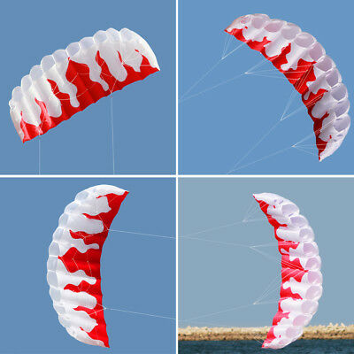Outdoor Sports 2m Power Soft Kite Dual Line Stunt Parafoil Kite with Handle E4V0