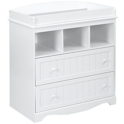 Changing Table Unit Baby 2 Drawers Storage 93 x 88 x 50 cm Diaper Changer White