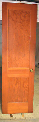 "Antique Interior Door 2 Panel Solid Core Wood Craftsman 24"" x 80"""