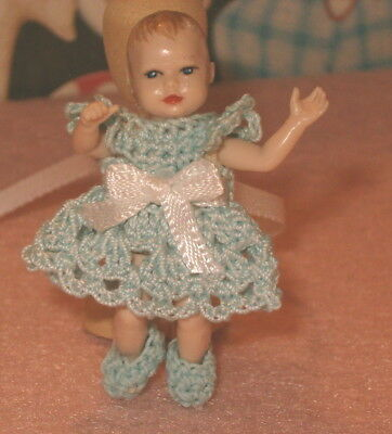 Handmade Dress and Booties for Heidi Ott Baby Doll (Outfit Only)
