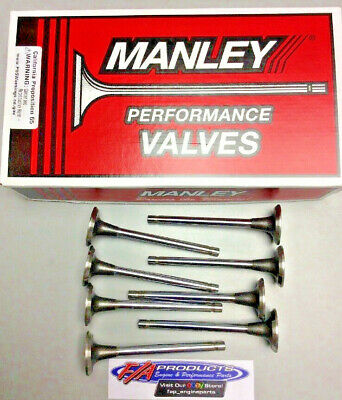"MANLEY 10077 1.5"" Stainless Exh Valve Budget Replacement Small Block Chevy Set 8"