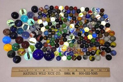 Marbles Vintage Variety Glass 2 Giant 29 Large 15 Medium 165 Small Lot of 211
