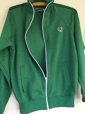 Vintage Fred Perry Jacket Top XS 10-12 Ladies Christmas Sports Jumper Green