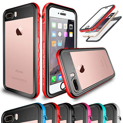 Waterproof 360 Full Body Shockproof Hybrid Case Cover For iPhone X 6 6s 7 8 Plus
