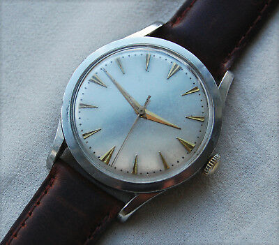 RECORD – Geneve – 1950's Stainless Steel – 022-18 - 17 jewels – Mens Wrist Watch