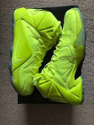 220eaf644a120 NIKE LEBRON XII 12 EXT Tennis Ball Volt Yell Basketball Shoes ...