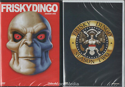 Frisky Dingo DVD Complete Series Lot Seasons 1 2 First Second 2 disc set NEW