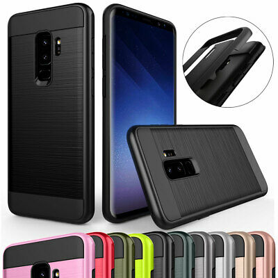 For Samsung Galaxy S6 / Edge / Plus Rubber Shockproof Brushed Hybrid Case Cover