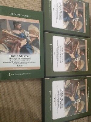 Dutch Masters: The Age Of Rembrandt 6-Disc Dvd Set W/book The Great Courses