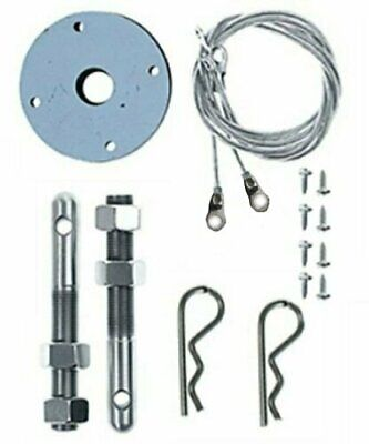 Hair Pin Style Hood Pin Kit with Lanyard Stainless Steel Mopar Chevy Ford