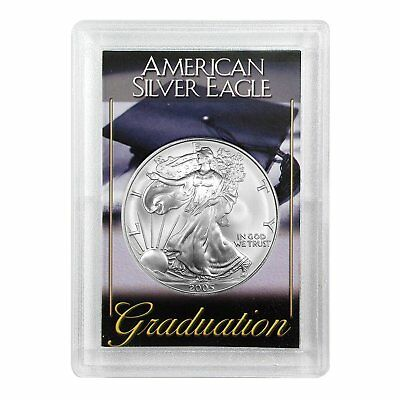 2005 $1 American Silver Eagle HE Harris Holder - Graduation Design