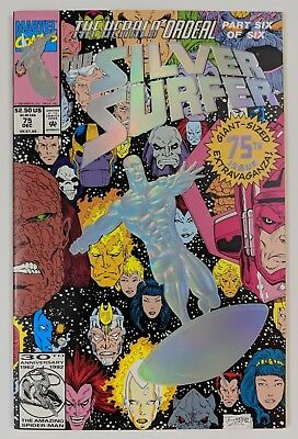 The Silver Surfer #75 Marvel Comic 1992 Herald Ordeal Part 6 Ron Marz Foil Cover