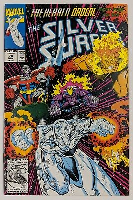 The Silver Surfer #74 Marvel Comic 1992 Herald Ordeal Part 5 Ron Marz Firelord